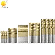 50 шт. набор сверл из быстрорежущей стали с титановым покрытием из быстрорежущей стали 1 мм 1,5 мм 2 мм 2,5 мм 3 мм