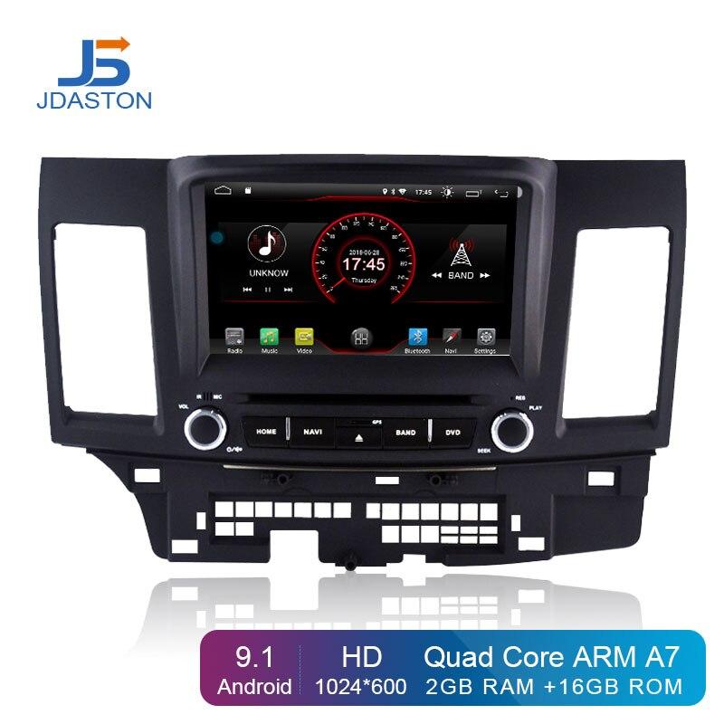 Lecteur DVD de voiture JDASTON Android 9.1 pour Mitsubishi Lancer EX EVO Lancer 10 multimédia GPS Navigation 2 Din autoradio IPS stéréo