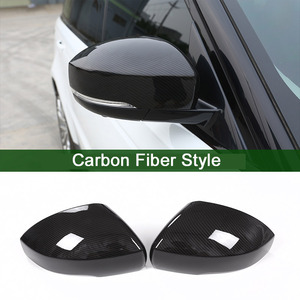 Carbon Fiber Style For Range Rover Sport RR Sport 2014-17 ABS Plastic Side Rearview Mirror Cover Trim For Landrover Discovery 4(China)