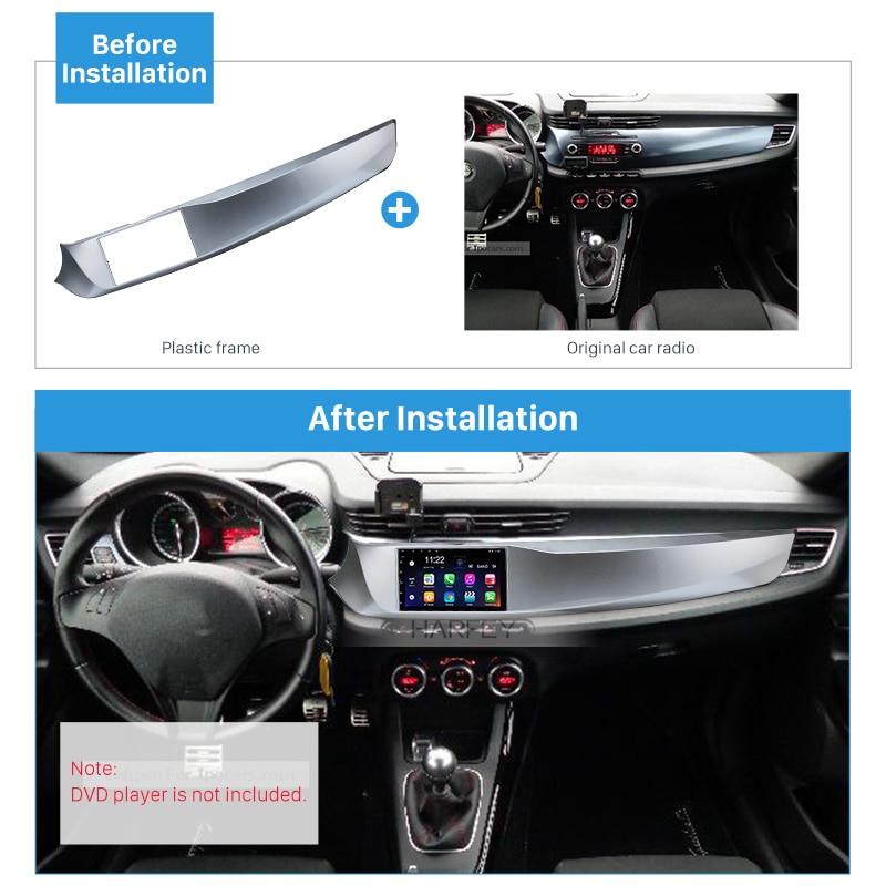 Harfey main gauche DriveCar stéréo cadre Fascia Double Din pour ALFA ROMEO GIULIETTA 2010 2011 2012 2013 2016 tableau de bord Kit de montage - 2