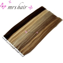 """MRSHAIR hõbedane juukseplaat juuksepikendustes 20tk inimese juuksekindel kleeplint Brasiilia juuste sirgeks nahakudeliseks juukseks 16 """"- 24"""""""