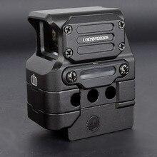 DI optyczne FC1 kolimator Red Dot kolimatorowy celownik holograficzny do szyny 20mm (czarny)
