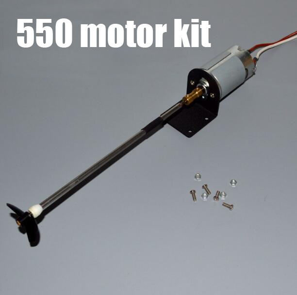 Free Shipping 550 RC Boat motor with Drive shaft propeller bushing kit set modify spare parts for RC Boat model positive/reverse купить недорого в Москве