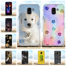 For Samsung Galaxy J6 2018 Case Soft TPU For Samsung Galaxy J6 2018 J600F J600G Cover Dog Patterned For Samsung Galaxy On6 Shell все цены