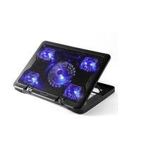 Тихий охлаждающая подставка для ноутбука LED подставка для ноутбук MacBook периферия 2 Порты USB пять большой вентилятор охлаждения охлаждающая п...