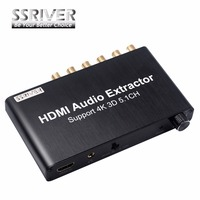 SSRIVER 5 1CH HDMI Audio Extractor Decode Coaxial To RCA AC3 DST To 5 1 Amplifier