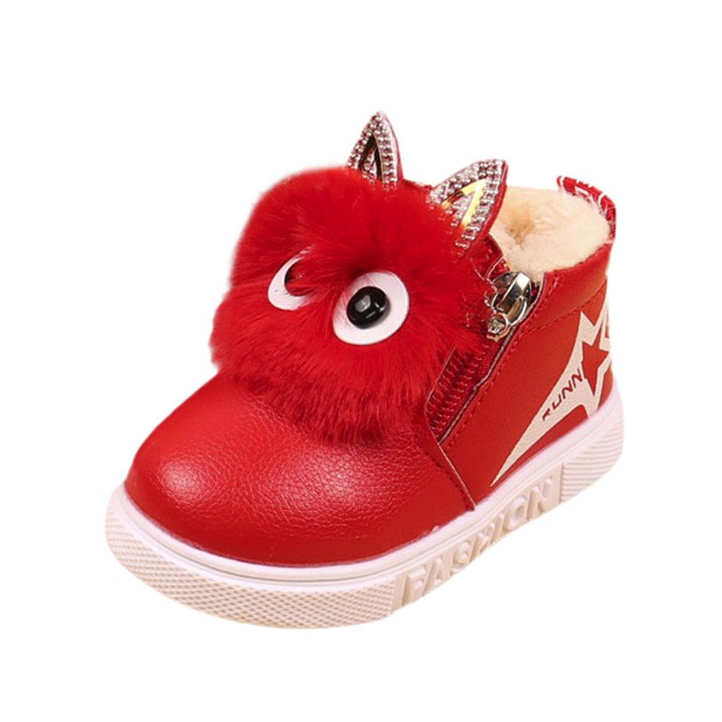Winter Warm baby PU leather boots Children Fashion Boys Girls Sneaker Boots Kid Warm Bab ...