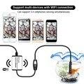 Jingleszcn wifi 9mm de diâmetro 1 m/3.5 m/5 m vídeo endoscópio câmera de inspeção borescope iphone android visão cam à prova d' água cmos lens