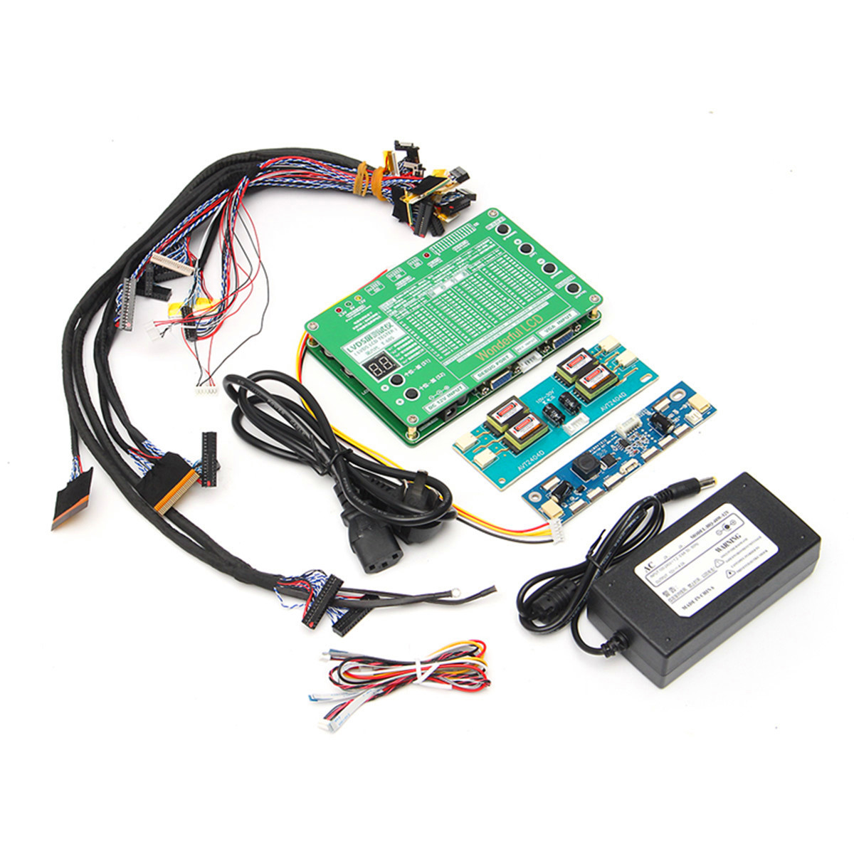 1 set Ordinateur Portable LCD/LED Outil de Test Kit Panneau Écran Testeur + 14 pcs Lvds Câbles + Onduleur