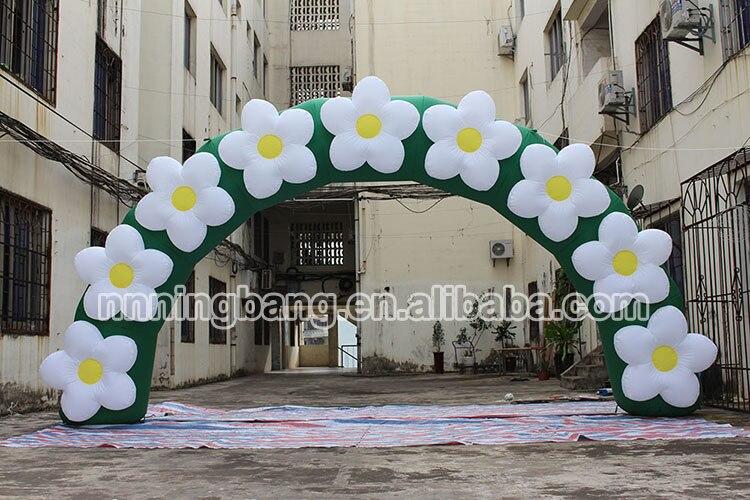 Бесплатная доставка 3 м, 6 м ширина, надувной цветок цепи арки для рекламы/надувные арки для Открытый продвижение