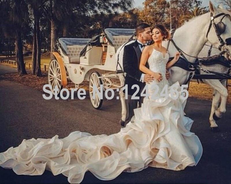 Sexy Ruffle Wedding Dress
