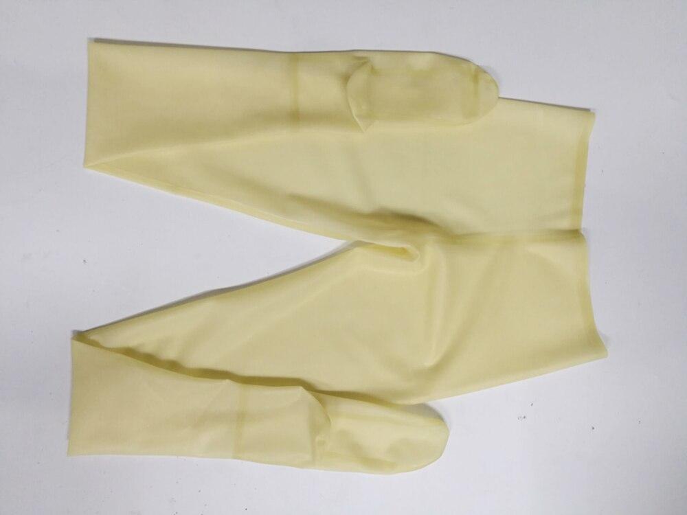 Leggings en latex Transparent pantalons en latex sexy en caoutchouc collants pantalons avec chaussettes de haute qualité - 3