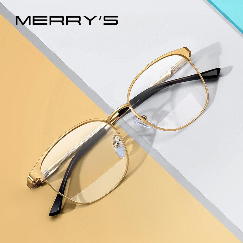 MERRYS DESIGN Men Women Fashion Trending Oval Glasses Frame Unisex Myopia Prescription Optical Eyeglasses S2046