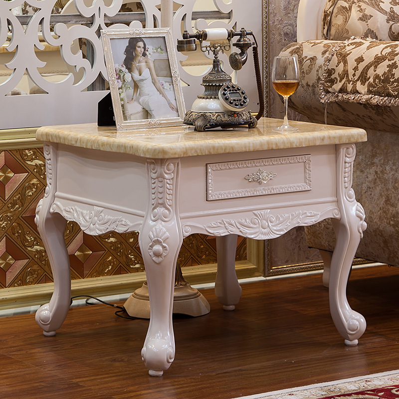 Coffee Tables Living Room Furniture Home Furniture American European Style Solid Wood Marble Coffee Tables Whole Sale 70 70 59cm
