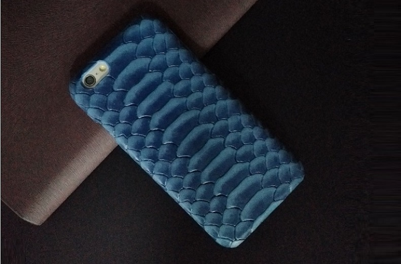 blue iphone 6 case python skin pattern real leather cover