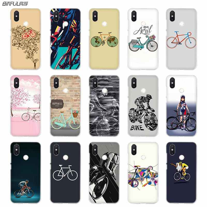 BinFul BIKE CYCLING Transparent Hard phone case cover for Xiaomi mi Redmi Note 5 4 3 4X 5A Plus 6 Pro 64g S2