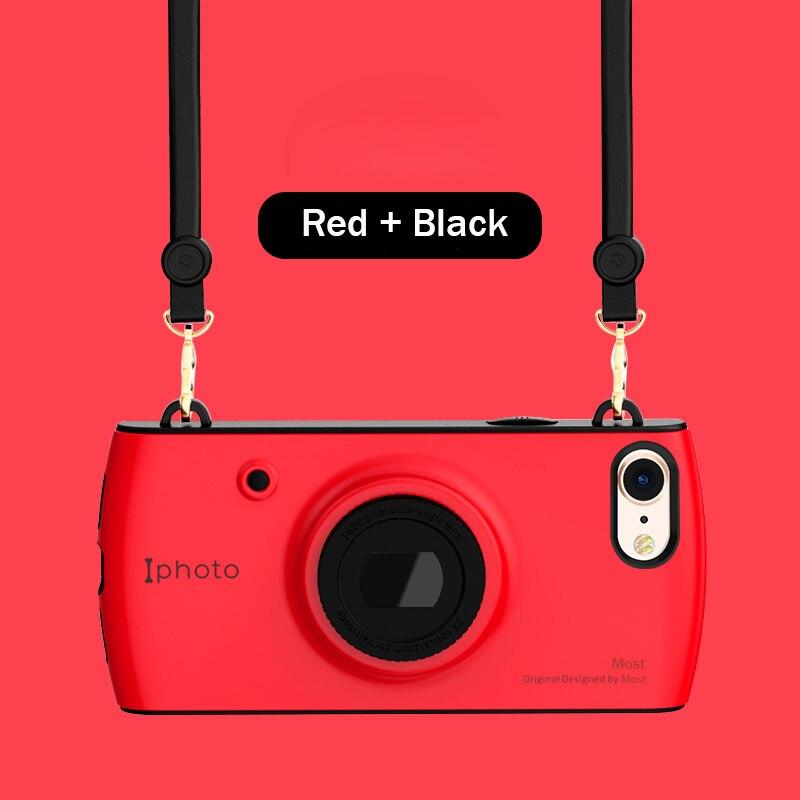 Retro Kamera Telefon Fall Für iPhone X 7 8 3D Objektiv Bugle Hybrid Mädchen Vintage Cases Für iPhone 6 6 s 7 8 Plus Mit Lanyard Abdeckung