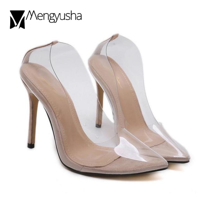 femme pvc et transparent cm chaussures super talons 11 haute daim YTxgOqx7
