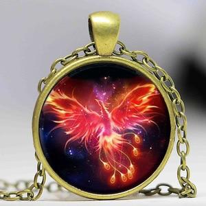 Image 5 - Starry Sky Beast Phoenix Constellation Twelve Gold Color Saint Seiya Glass Pendant Necklace Childrens Classic Comic Memory Gift
