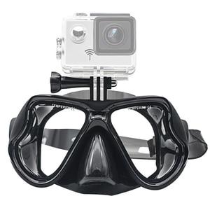 Image 2 - Swimming Mask Tempered Glasses Diving Mask for GoPro Hero 7 6 5 4 3 for Xiaomi Yi 4K Sjcam Eken Scuba Mask for Go Pro Accessory