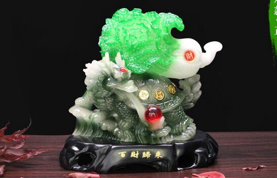 Китайская капуста и черепаха нефрит и капуста набор штук для возврата ста долларов аксессуары прямые продажи