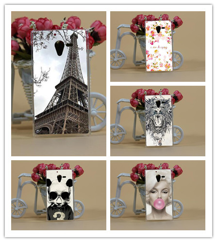 Чехол для телефона Sony Xperia ZL L35H с красивым принтом цветов, животных, башен, жесткие чехлы на заднюю крышку в наличии