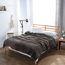 2107 New High Quality Flannel Blanket Full/Queen/King Size Fleece on the bed / sofa Solid Color Japan Style 200*230cm