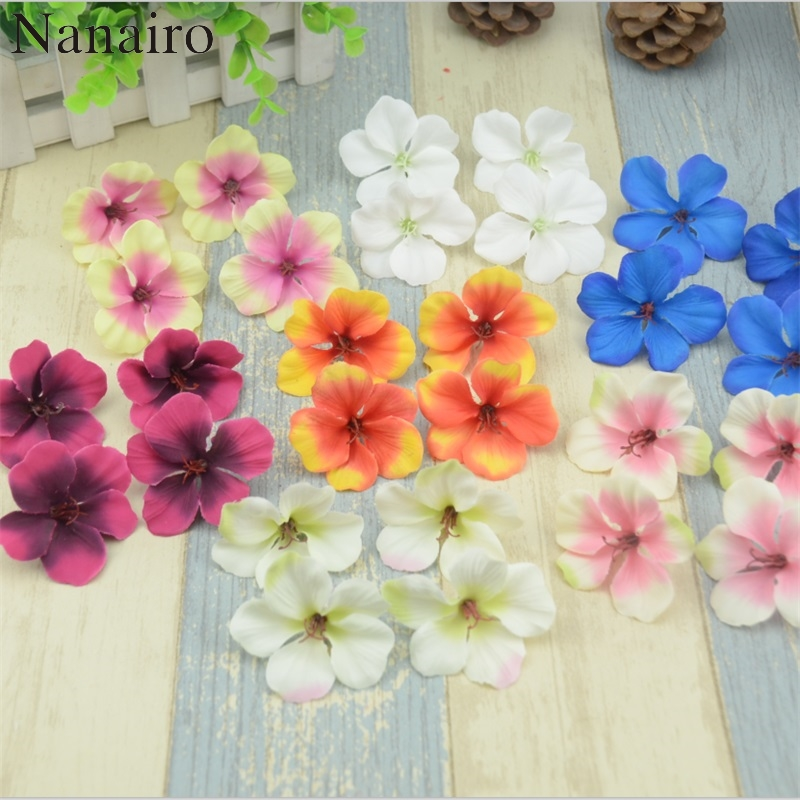 20pcs/lot 5cm Real Touch Silk Orchid Mini Artificial Flower Heads For Wedding Home Decoration Orchis Cymbidium Flowers Cheap