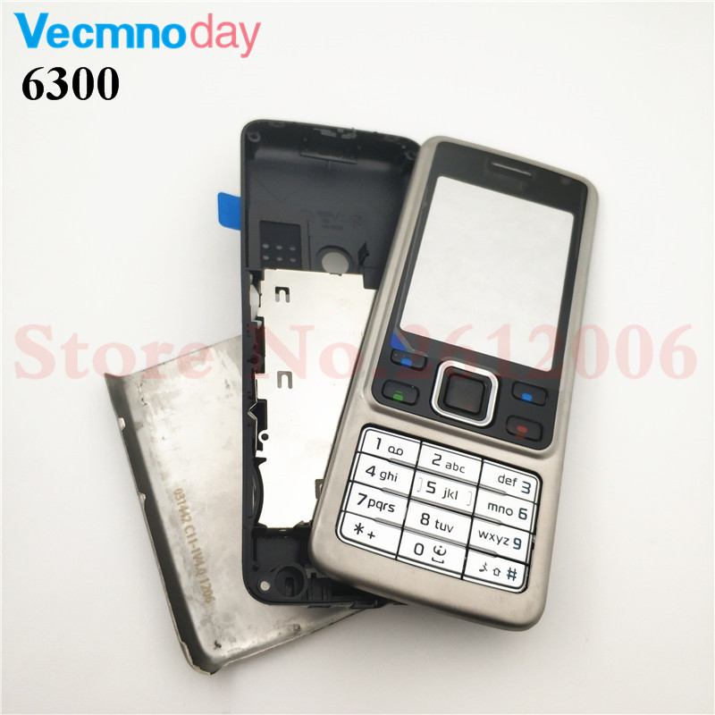 Vecmnoday <font><b>Housing</b></font> Case For <font><b>Nokia</b></font> <font><b>6300</b></font> Full Complete Mobile Phone <font><b>Housing</b></font> Battery Cover Door Frame With Keyboard image