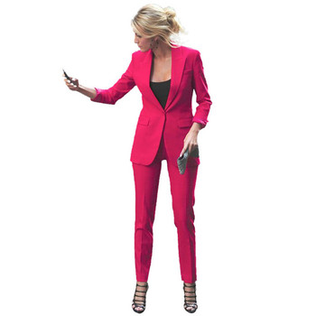 New hot women's high-quality simple suit women's business formal suit two-piece suit (jacket + pants) support customization