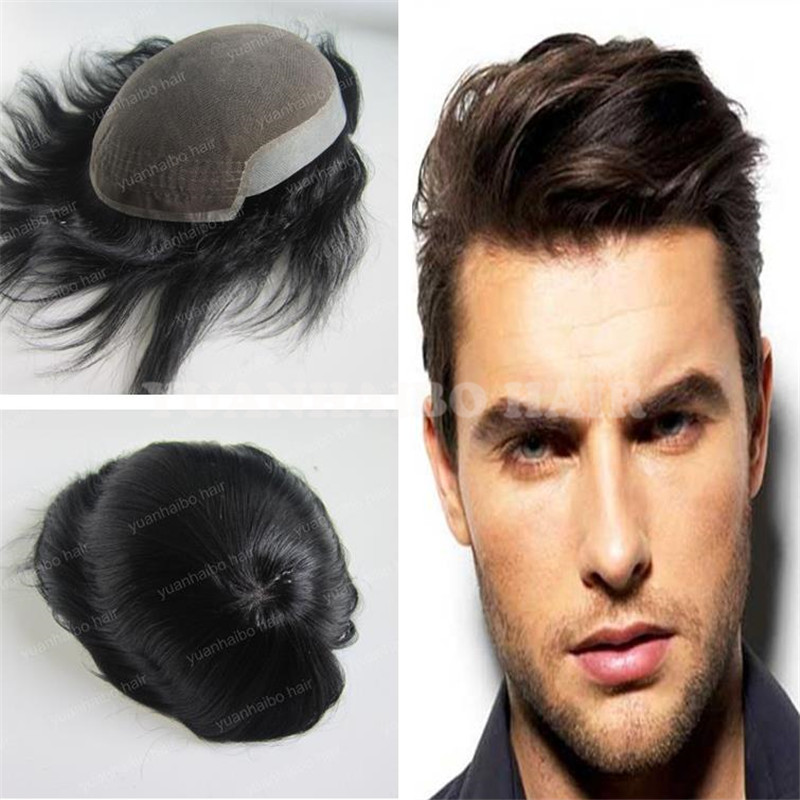 Fashion Men Hair 6inch 1b Silky Straight Virgin Indian Hair 7x9 Short Hair Replacement Men S Toupee Free Shipping Hair Products In Uk Hairhair Products Permed Hair Aliexpress