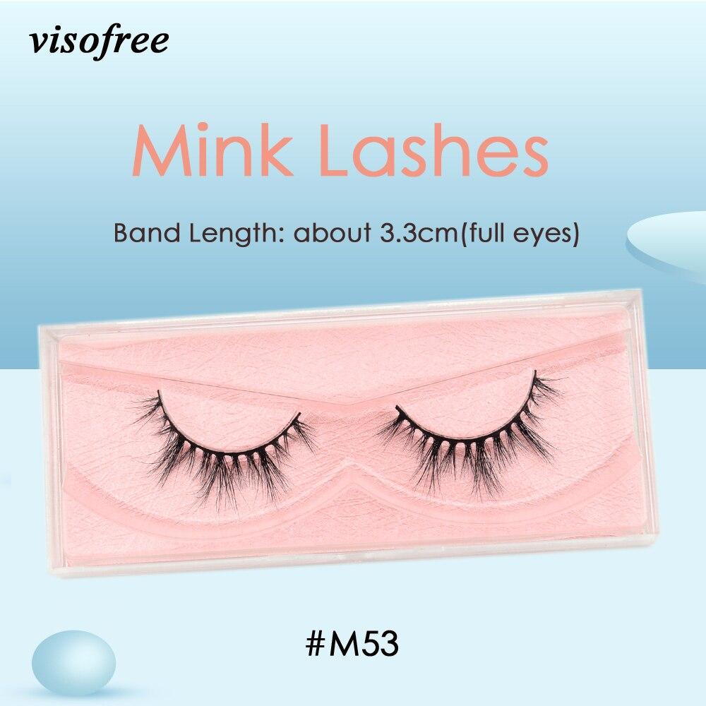 Visofree Mink Lashes 3D Mink Eyelashes Ultra Fluffy Collection Medium Volume Mink False Eyelashes Cruelty Free Lashes Makeup M53