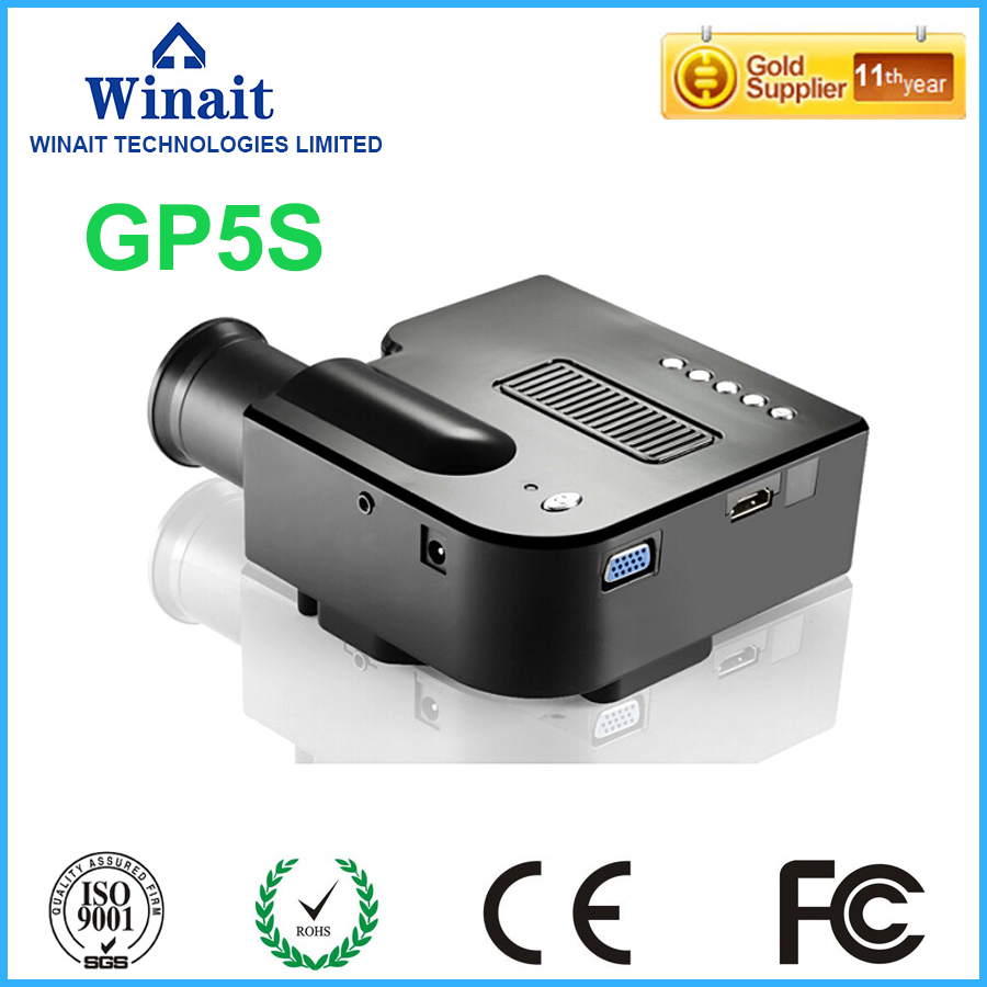 GP5S Mini Portable LED Projector With 320x240P HDMI VGA Projector + HD HDMI Cable + Audio Cable