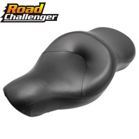 Motorcycle Black Driver+Passenger Seat 2 Two Up Sofa Seat Tour Seat Bench Rear Cushion For Harley Sportster 883 1200 2004 2003