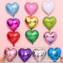 5pcs 18 inch heart-shaped aluminum film balloon wedding dress up arrangement love foil
