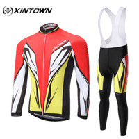 2016 Xintown Men Cheap Authentic Sports Jerseys Wind Full Cycling Jersey Sets Bike Bicycle Clothing Long