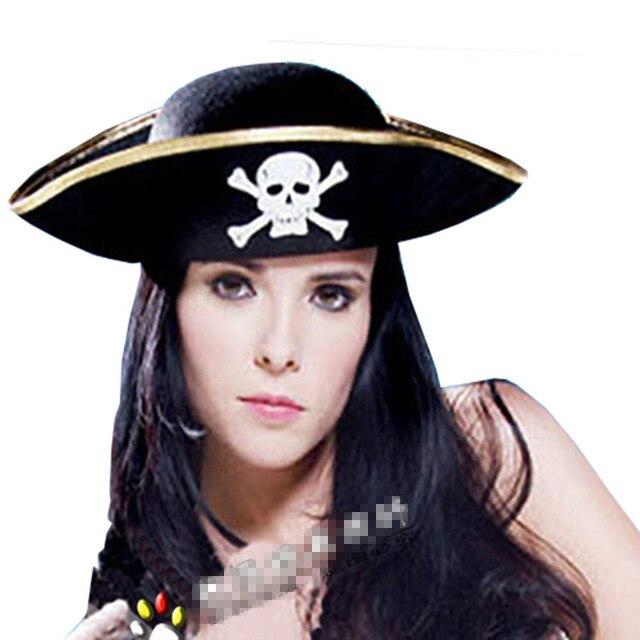 Martinetti cosplay pirati dei caraibi capitano cappello non tessuto cap halloween  costume party accessori 44401dd7d7f1