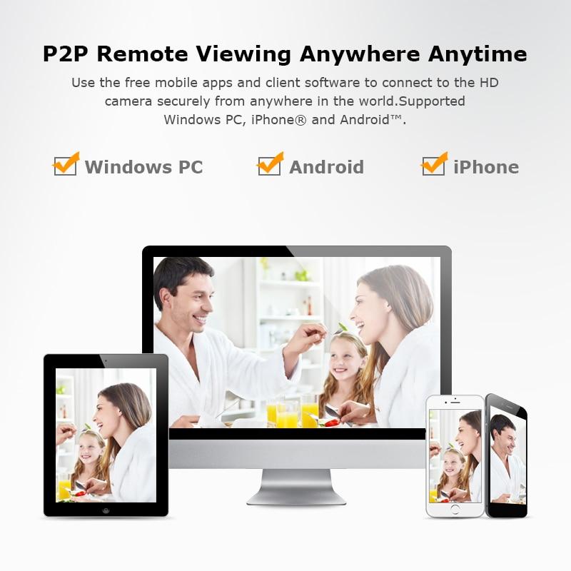ANRAN Cámara sistema de seguridad inalámbrico 8CH 1080 P NVR Kit HD cámara IP al aire libre SISTEMA DE CCTV de la visión nocturna de la cámara de vigilancia. sistema de - 5