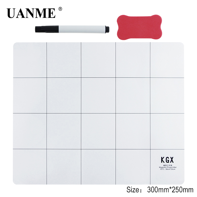 UANME 20X25CM 25X30CM Magnetic Project Mat Screw Work Pad With Marker Pen Eraser For Cell Phone Laptop Tablet Repair Tools