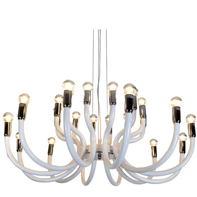 Blanco hierro lujo LED Candelabros moderna Iluminación accesorios ...