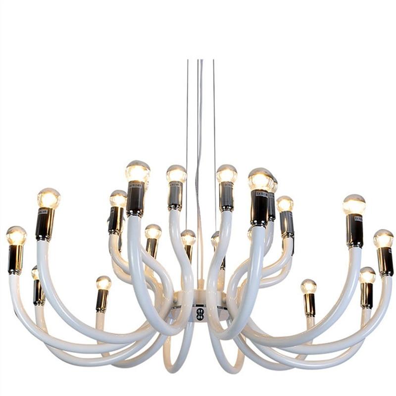 ferro bianco spider luxury led lampadari moderni apparecchi di illuminazione contemporanea cucina di design per bar