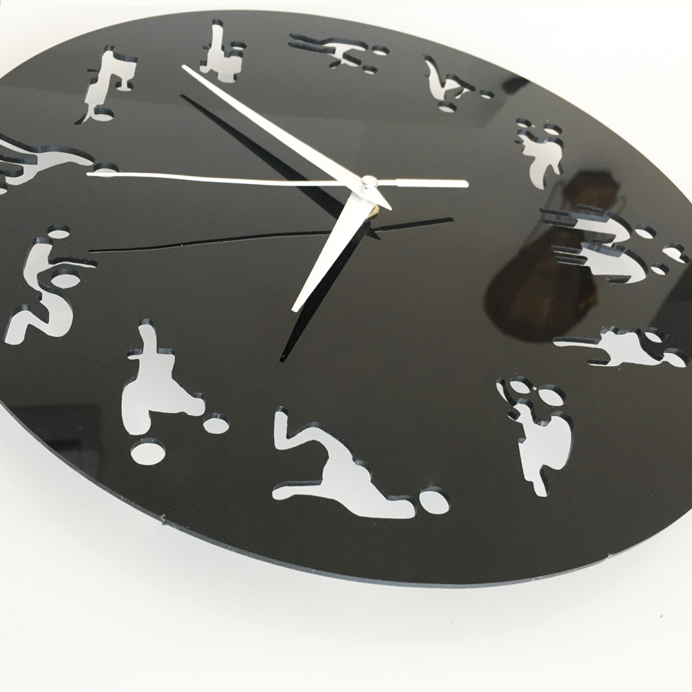 Futuristic wall clock aent aliexpresscom buy wall sticker clock diy home decoration sexual amipublicfo Image collections