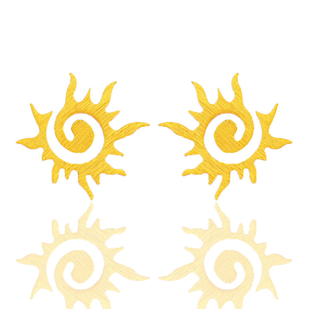 Dianshangkaituozhe Sun Flower Earrings For Men Brincos Dragon Earring Women  Fashion Jewelry Boucle D'oreille