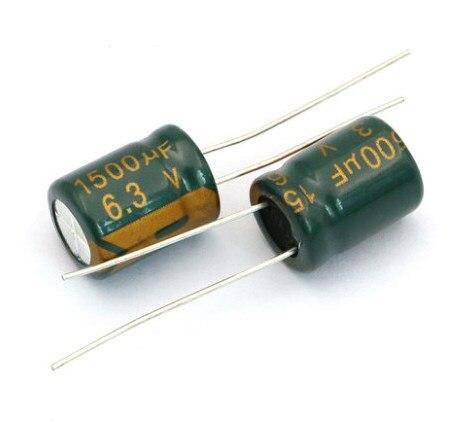 50pcs 1500uF 6.3V 8x20mm Panasonic FJ Low ESR 6.3V1500uF Motherboard Capacitor