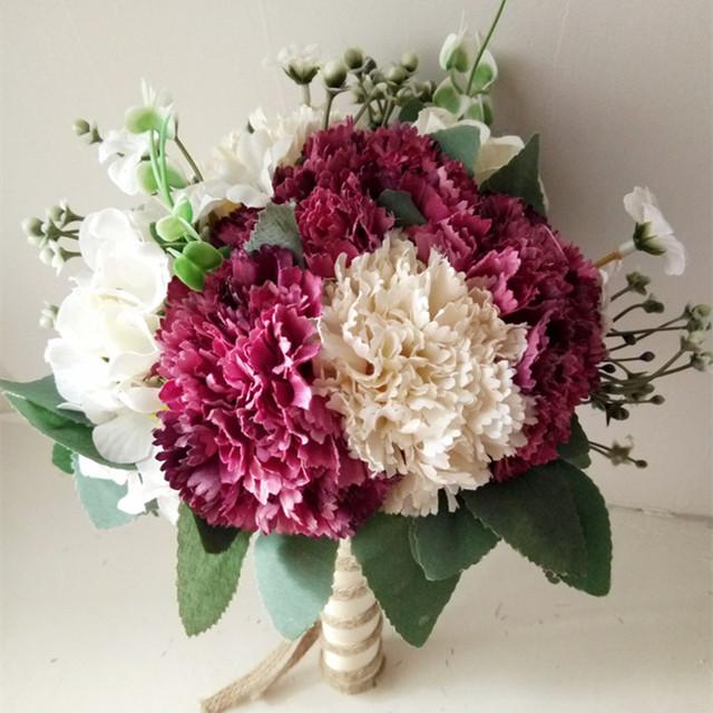Envío Libre Accesorios Decoración de la Boda Ramo de Flores de La Boda de dama de Honor Ramo De La Boda Para Las Novias Gelin Buketi 0224A