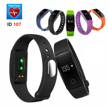 Original ID107 Bluetooth Smart Wristband Heart Rate Monitor Smart Band Fitness Tracker Bracelet For Android IOS VS Mi Band 2