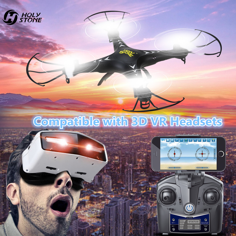 Holy Stone HS110 FPV RC Drone with Camera RC Helicopter 720P HD Live Video WiFi 2.4GHz 4CH 6-Axis Gyro Altitude Hold Quadcopter jjrc rc helicopter 2 4g 4ch 6 axis gyro rc quadcopter rtf air press altitude hold with lcd hd camera rc drone dron hover copters
