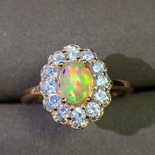 [MeiBaPJ Natural Opal Gemstone Fashion Ring for Women Real 9