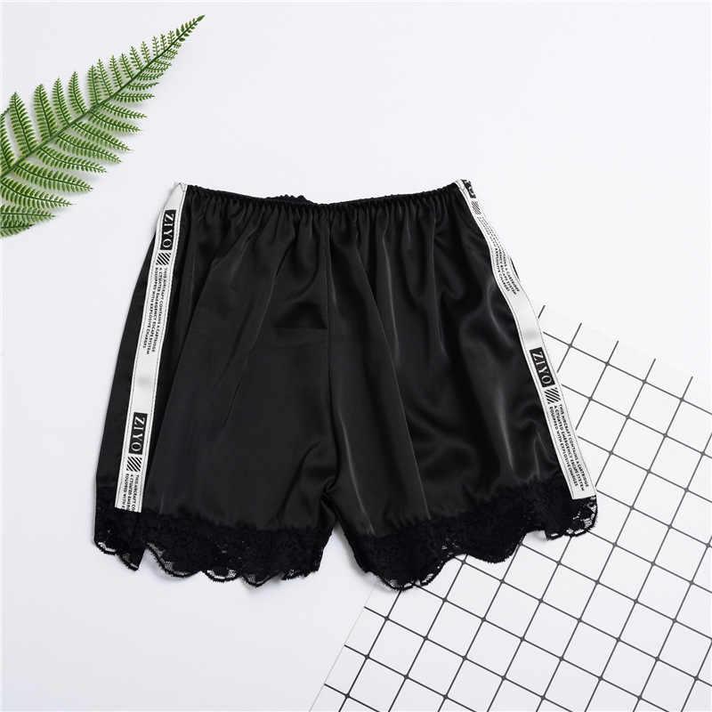Shorty femme sexy słodkie koronki okrążenie bezpieczeństwa spodnie damskie sexy płaskie-kąt spodenki pod spódnica szorty modalne Ice silk oddychające krótkie