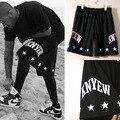 2016 Мода Pyrex видения KNYEW мужские и женские модели БЫЛИ ТРЕЛЬ сеть звезды шорты случайные летние шорты свободные